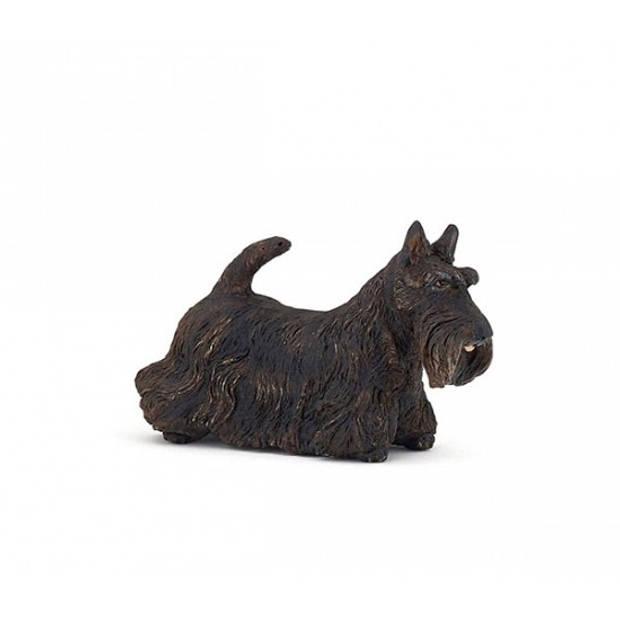 Plastic zwarte Schotse terrier 6 cm