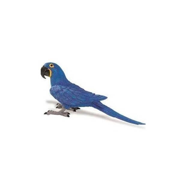 Blauwe Ara papegaai van plastic 11 cm