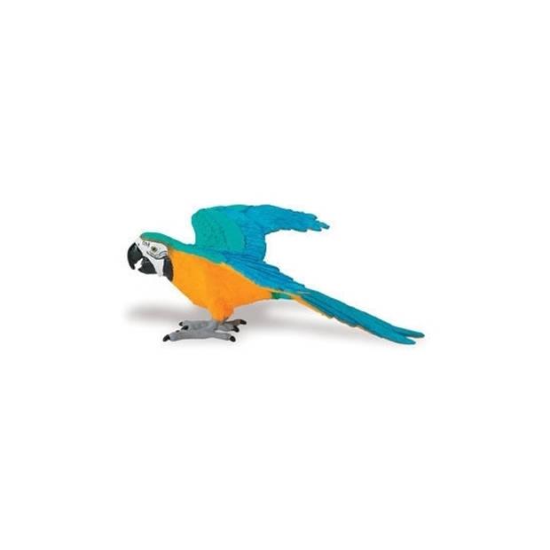 Speelgoed figuur gele Ara papegaai van plastic 10 cm