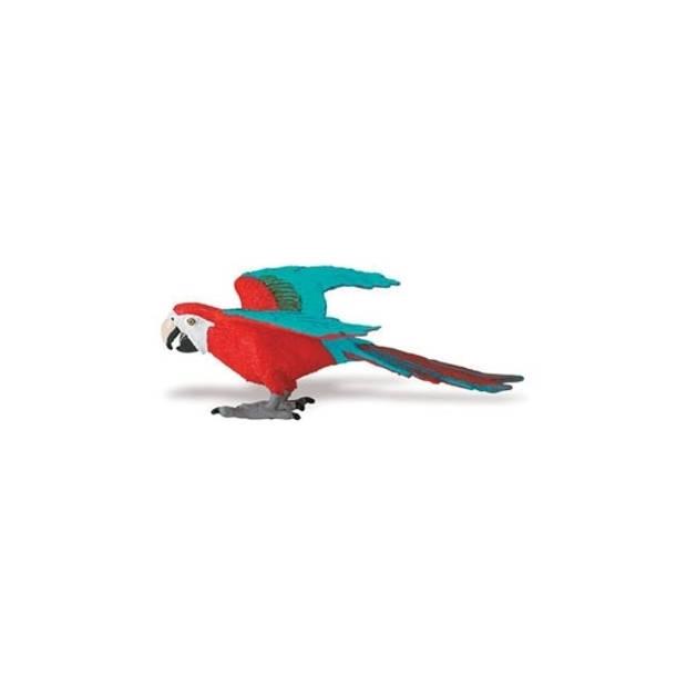 Rode Ara papegaai van plastic 10 cm
