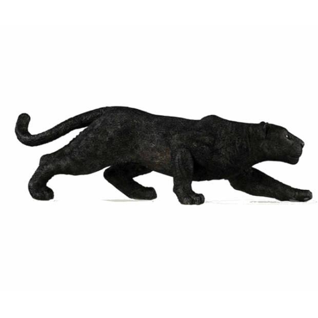 Plastic speelgoed figuur zwarte panter 14 cm