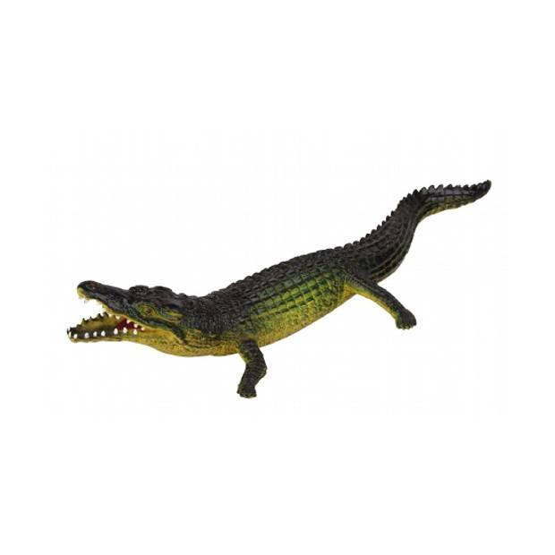 Levensechte rubber dieren speelfiguren krokodil van 30 cm