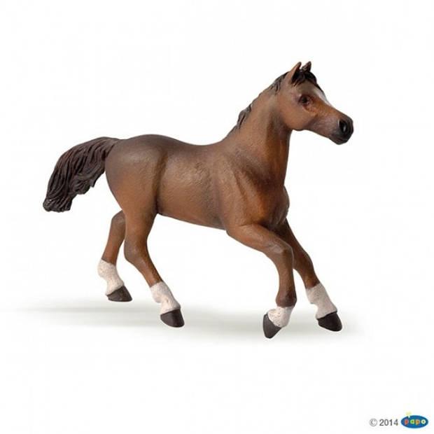 Plastic bruin Arabieren paard 15,5 cm