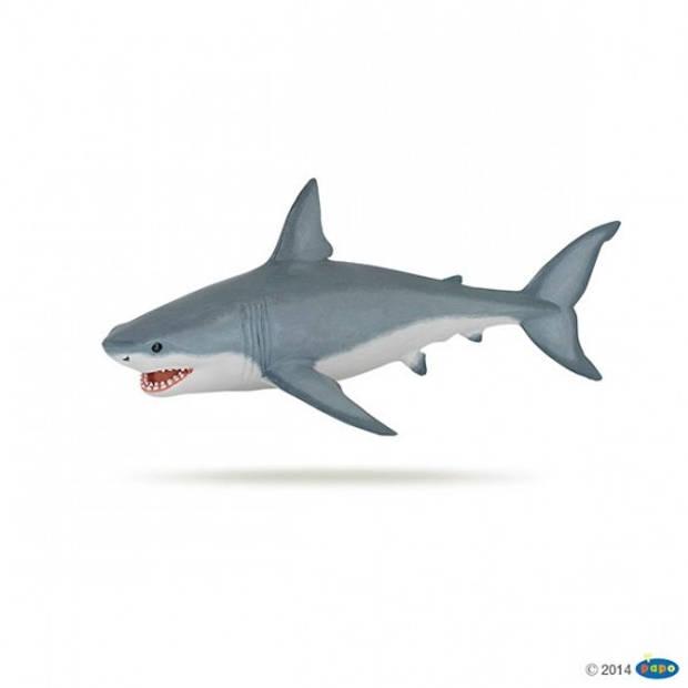 Plastic witte haai 19 cm