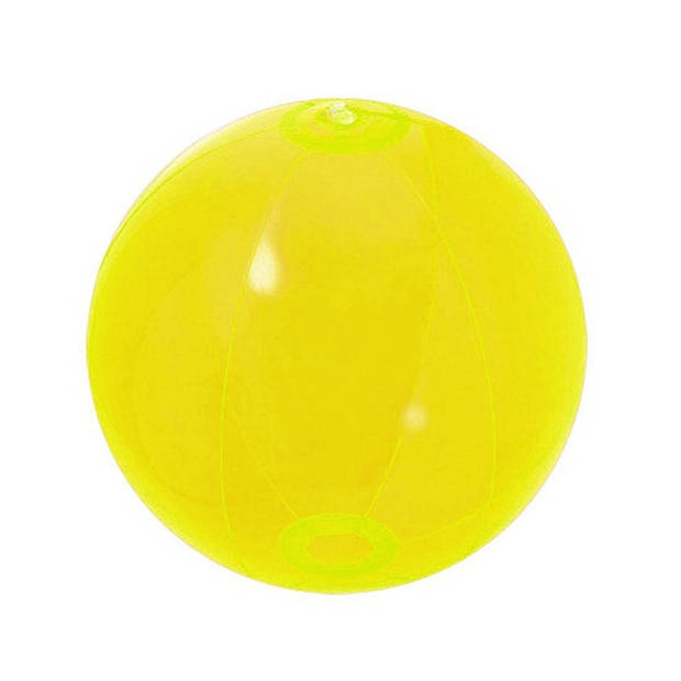 Opblaasbare strandbal neon geel 30 cm