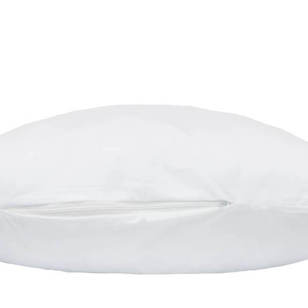 Snoozing - Antibes - Synthetisch - Zacht - Hoofdkussen - 60x70 cm - Wit