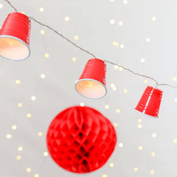 Party Lighting Beer Pong bekers - feestverlichting - 10 LED - 1,65 Meter