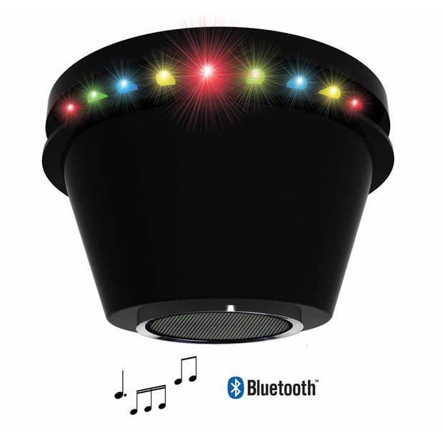 PartyFunLights LED discolamp - met bluetooth speaker - Ø12,5cm x 7,5cm