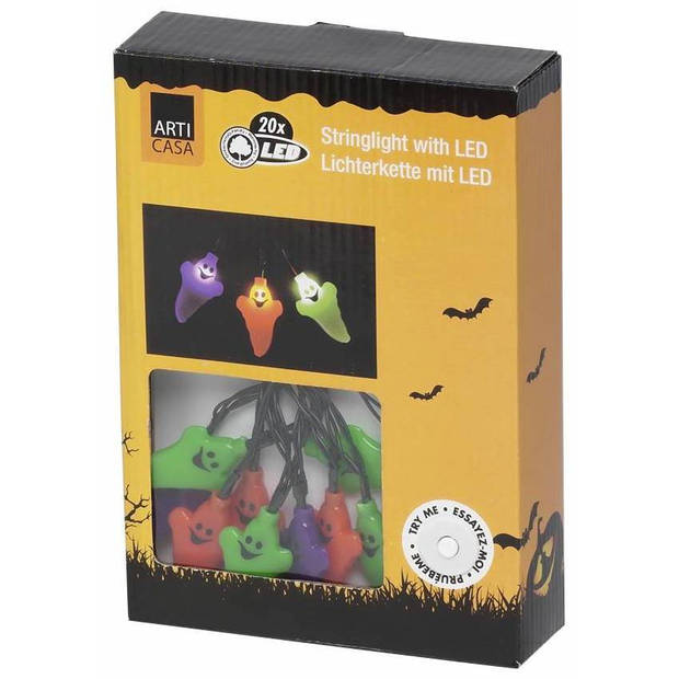 Arti Casa Halloween LED Lichtsnoer met 20 Spookjes