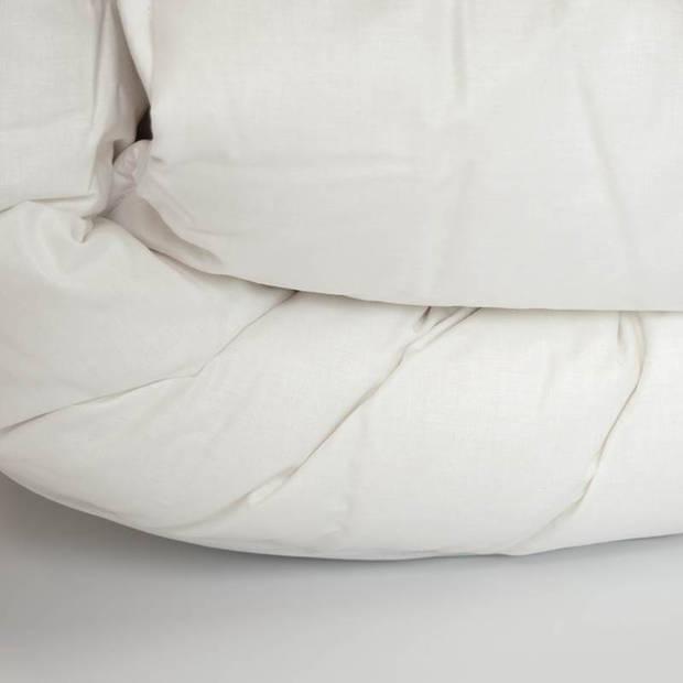 Snoozing Texel - Wol - Dekbed - Eenpersoons - 140x200 cm - Wit