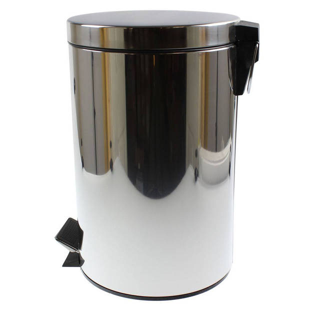 Pedaalemmer rvs hoogglans (12 liter)