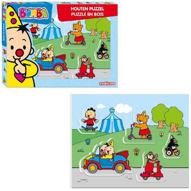 Studio 100 puzzel Bumba voertuigen - 5 stukjes