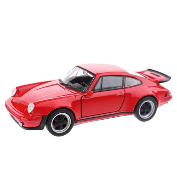 Toi-Toys schaalmodel Porsche 911 Turbo rood