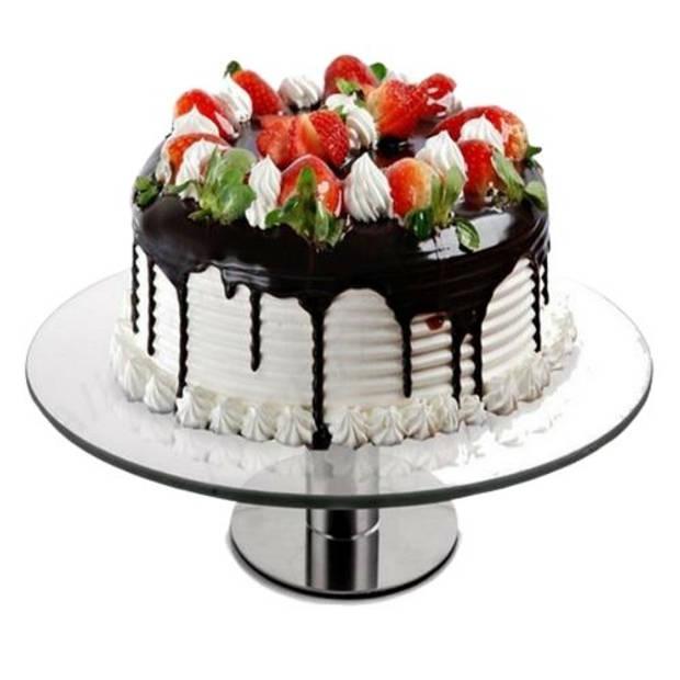 Orange85 Taartplateau - Luxe - Glas - Op voet - Draaibaar - Taartschaal - Taartbord - Cake