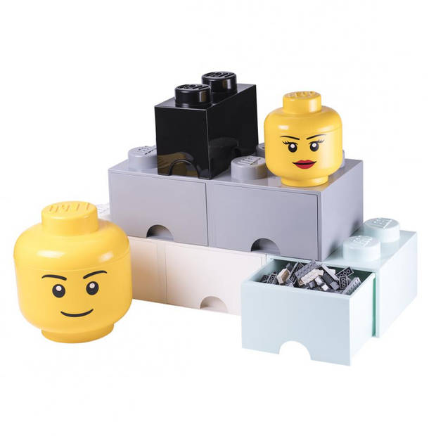 LEGO Iconic Girl groot opbergbox - geel