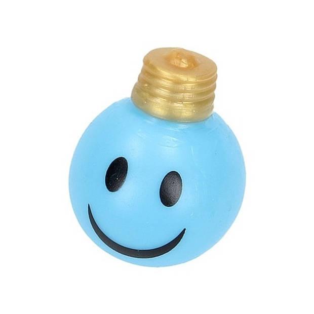Johntoy splat gloeilamp blauw 6,5 cm