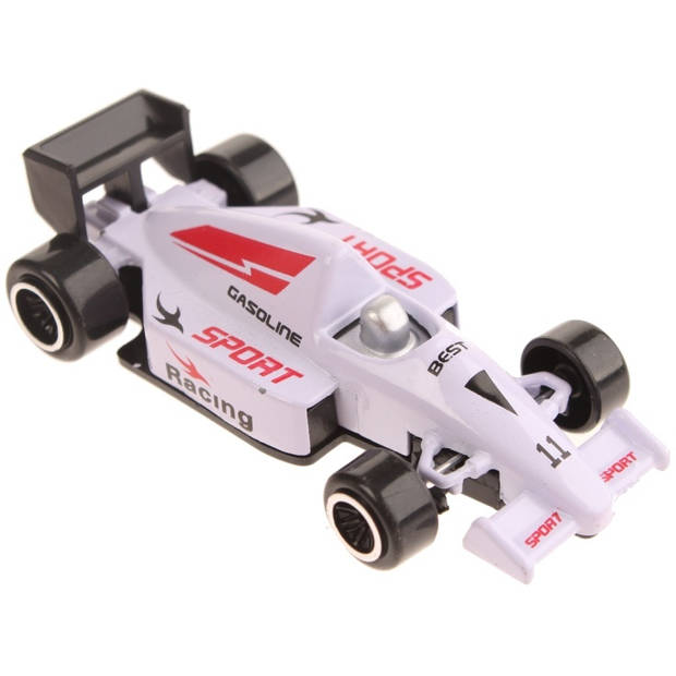 Johntoy raceauto Gasoline Sport Racing wit 7,5 cm