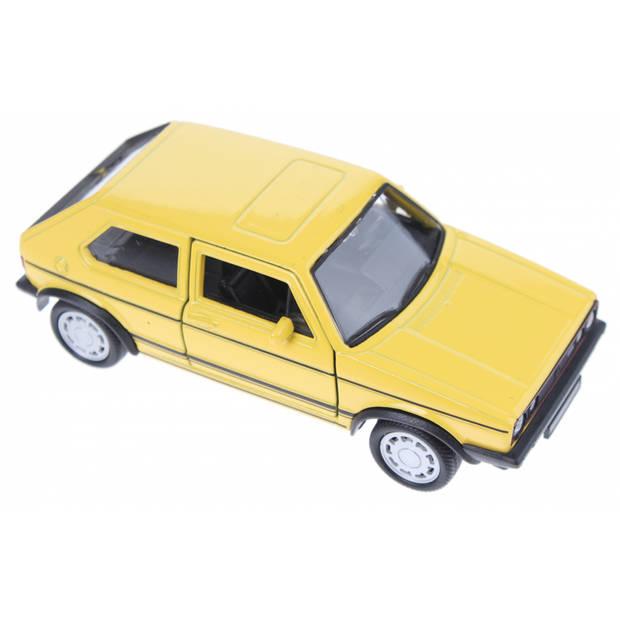 Welly schaalmodel Volkswagen Golf I GTI geel