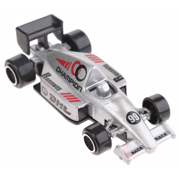 Johntoy raceauto Champion DHL zilver 7,5 cm