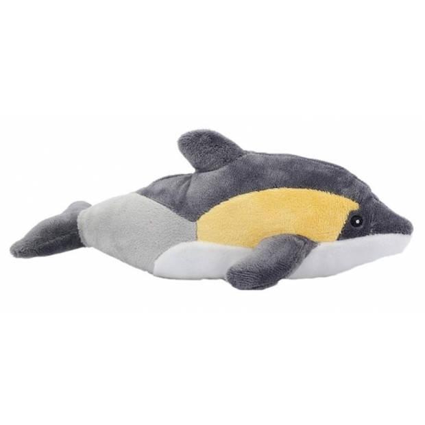 Pluche dolfijn knuffel geel/grijs 25 cm