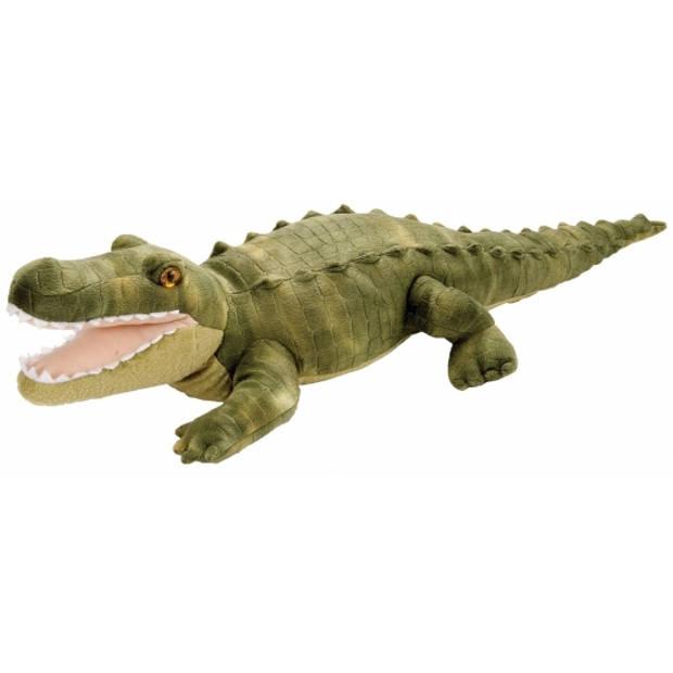 Pluche knuffel krokodil groen 38 cm