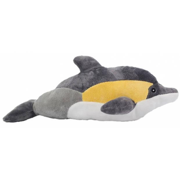 Pluche dolfijn geel 35 cm