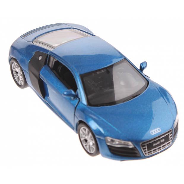 Welly schaalmodel Audi R8 blauw