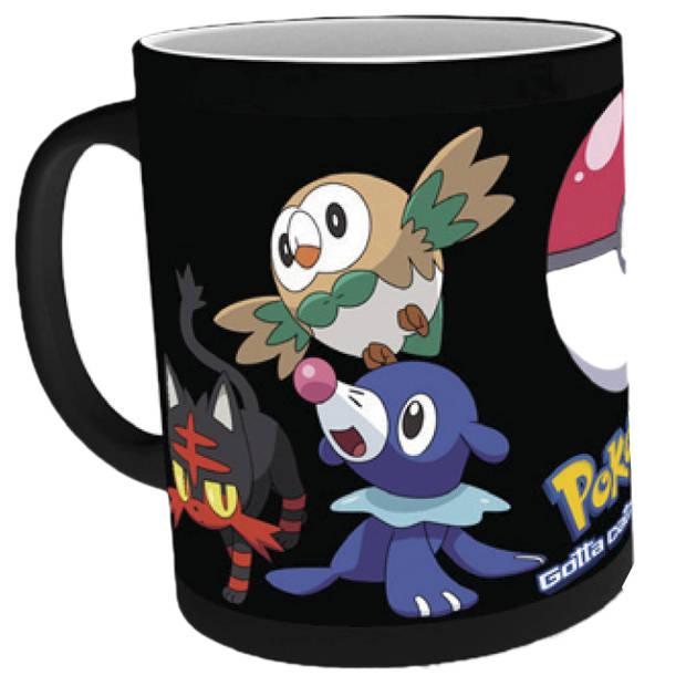 Pokémon mok heat activated catch zwart 0,6l