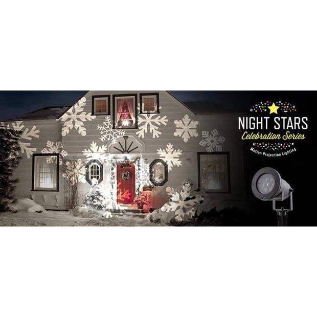 Bekend van TV Night Stars - LED projector incl. 6 thema patronen