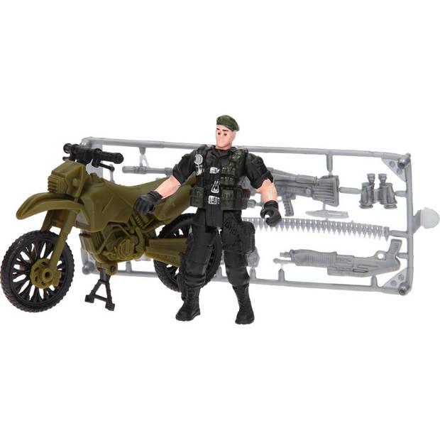 Johntoy leger speelset Army Forces motor legergroen