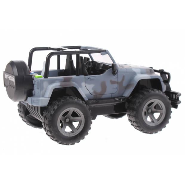 Toi-Toys Cross Country Jeep 21 cm blauw/camo