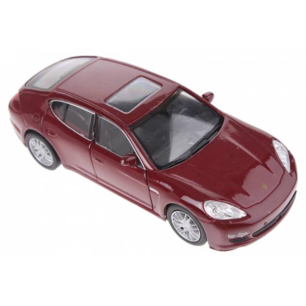 Welly schaalmodel Porsche Panamera S rood