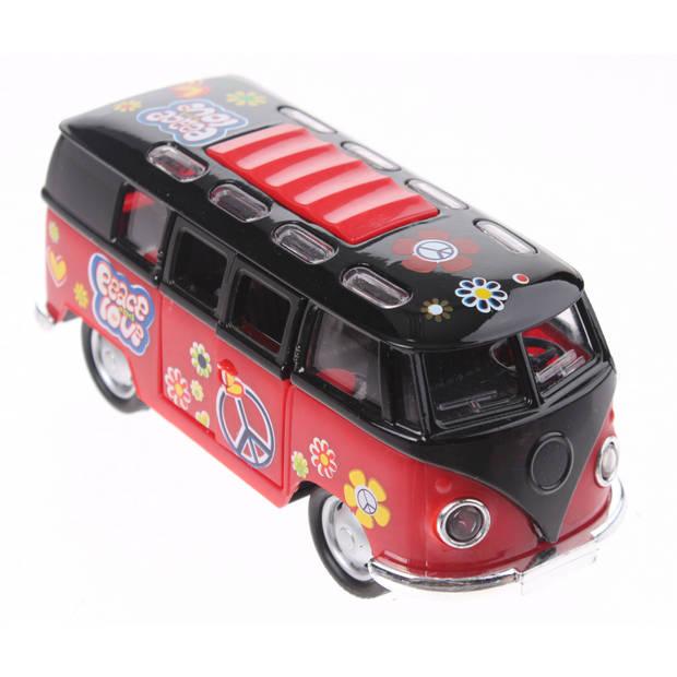 Toi-Toys FlowerPower Die-cast bus rood