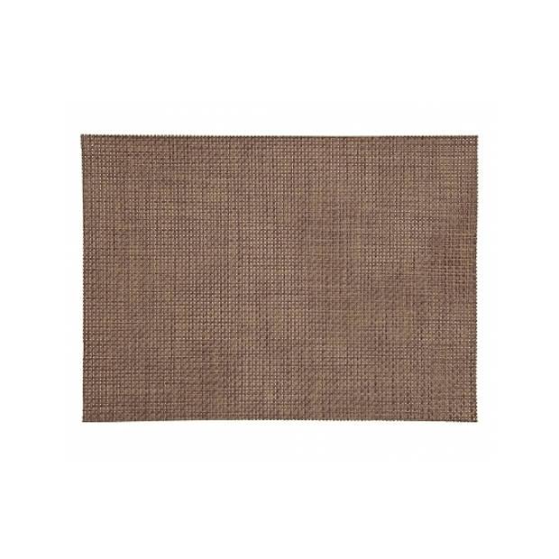 Placemat gevlochten bruin 45 x 30 cm