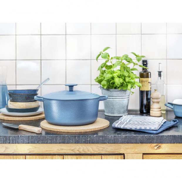 BK Bourgogne braadpan - ø 28 cm - denim blue