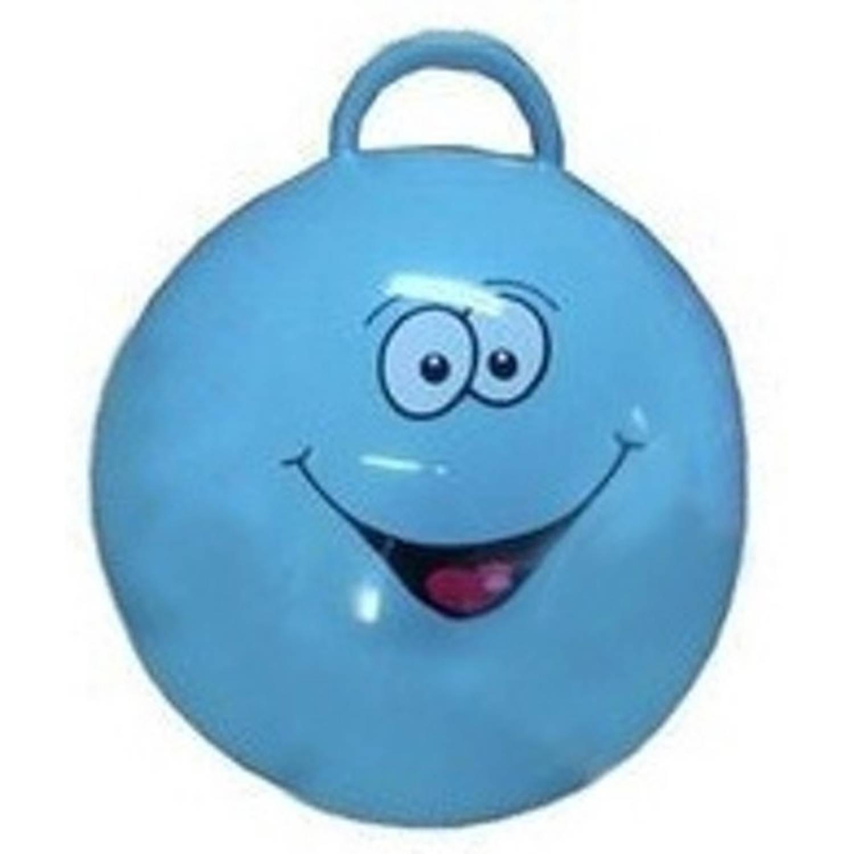 Summertime skippybal smile 55 cm blauw