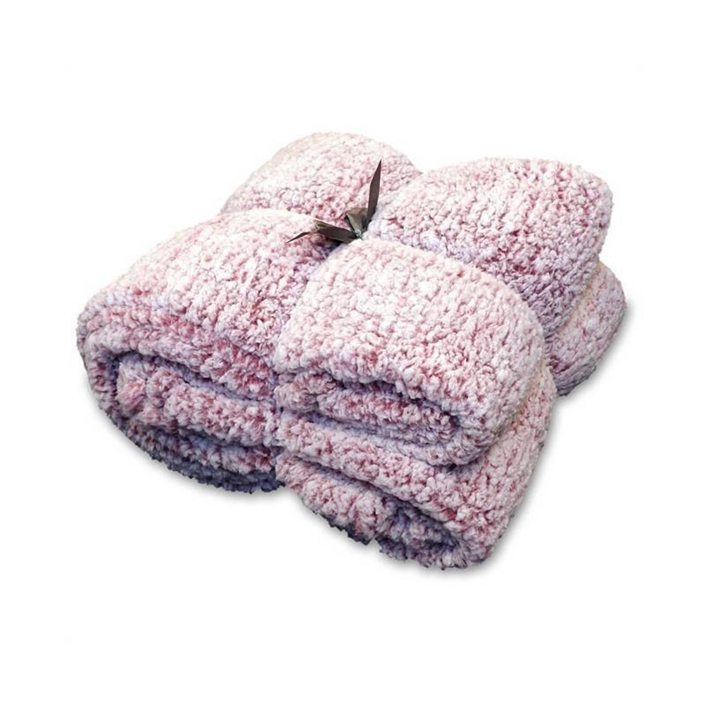 Unique Living Knut fleece plaid - 100% polyester, Fleece polyester - 150x200 cm - Roze, Mesa Rosa