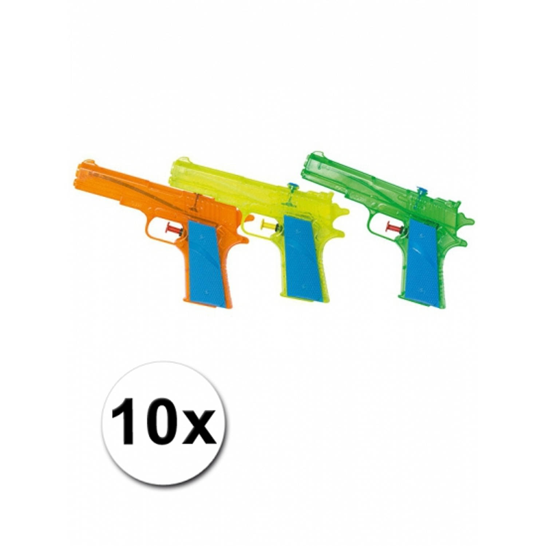 Afbeelding van 10 gekleurde water pistolen