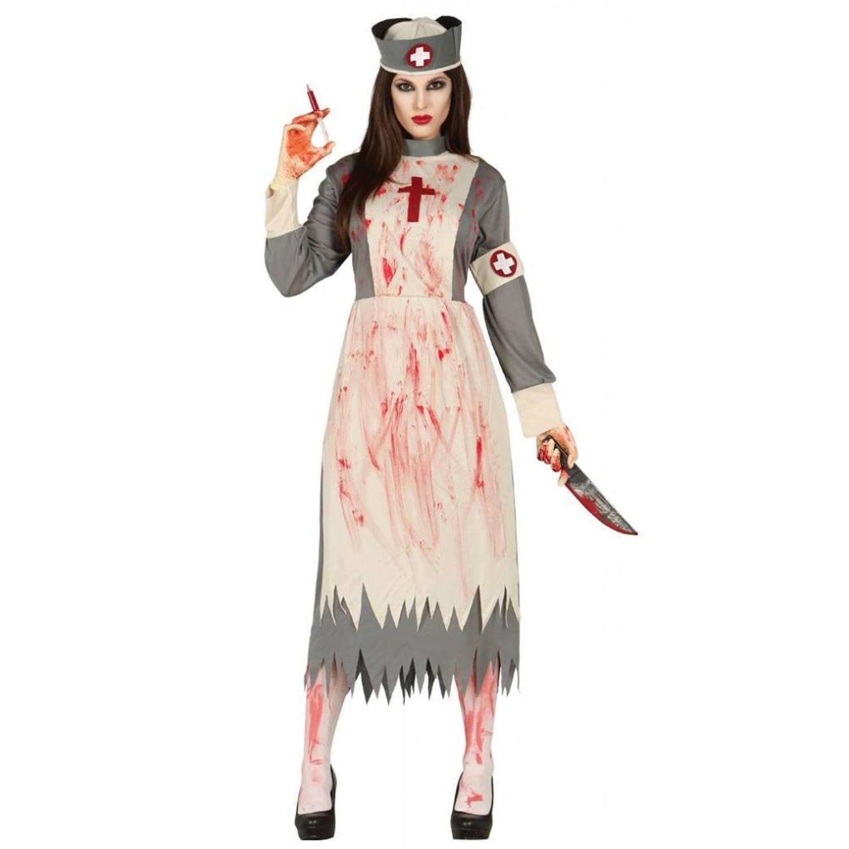 Halloween Kostuum Vrouw.Halloween Kostuum Dames Verpleegster Deluxe Blokker