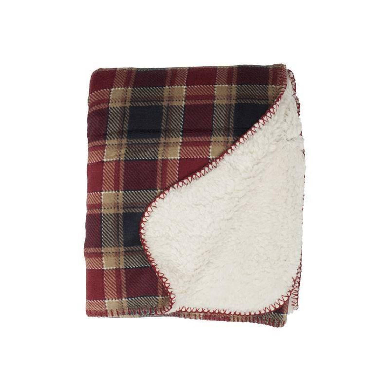 Unique Living Kody fleece plaid - 100% polyester, Fleece polyester - 220x240 cm - Rood, Multi