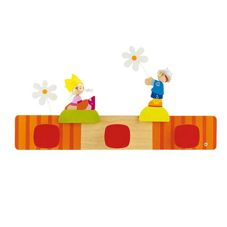 Sevi Houten Kapstok Prins en Prinses 56 cm oranje