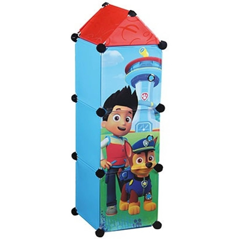 Nickelodeon kast met 3 vakken Paw Patrol blauw 26x26x98 cm