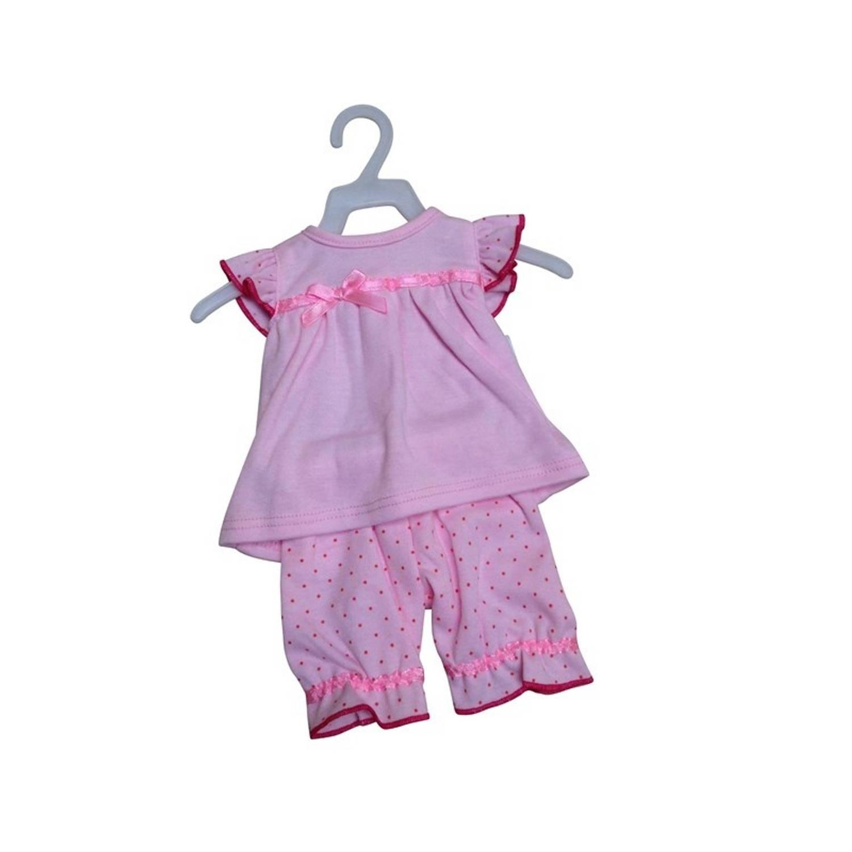 Afbeelding van Amleg jurk met broek mini mommy roze 38-41 cm