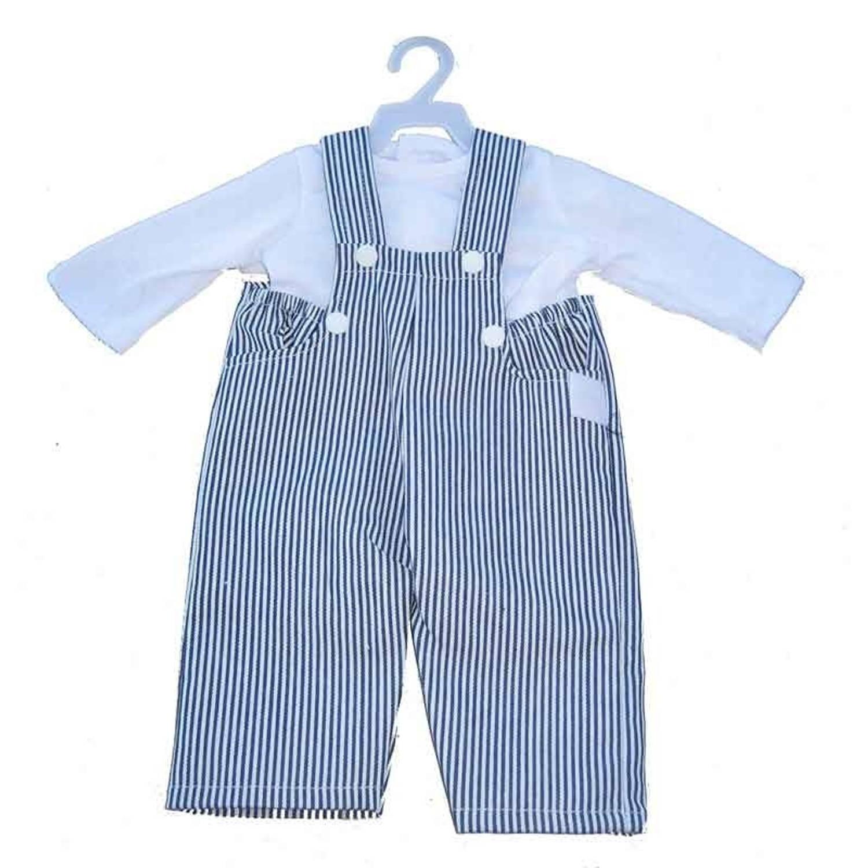 Afbeelding van Amleg overall met blouse mini mommy wit 33-37 cm