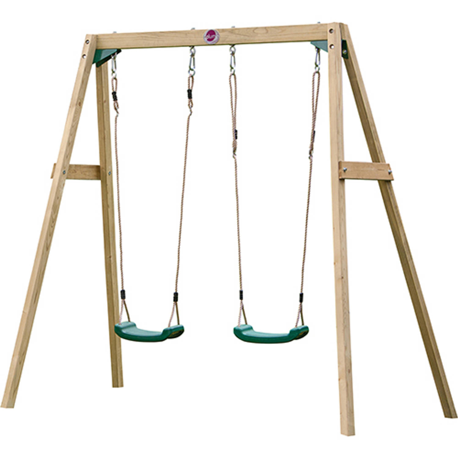 Plum Wooden Double swing set SET