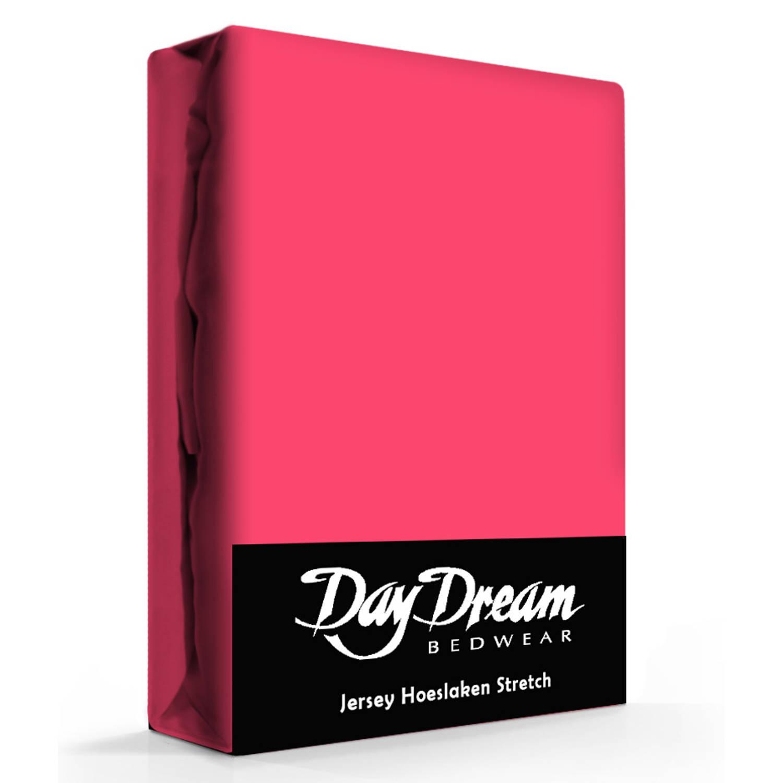 Day Dream Jersey Hoeslaken Fuchsia-180 x 200 cm
