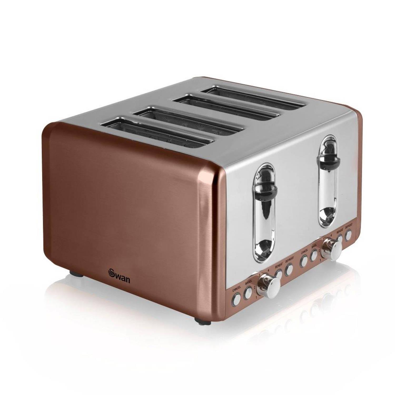 Swan toaster 4-slots koper