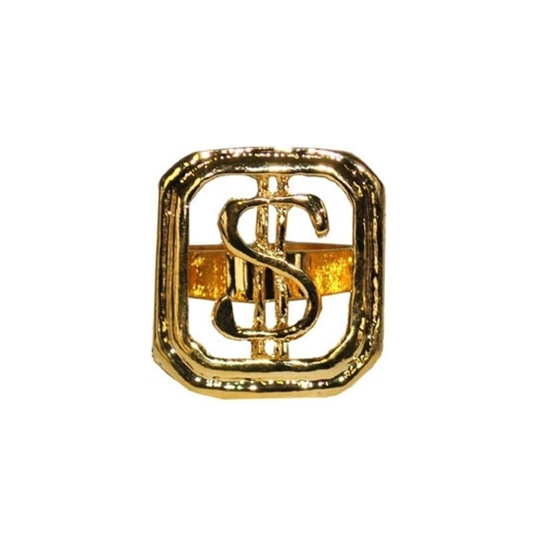 Korting Gouden Dollar Ring Verstelbaar