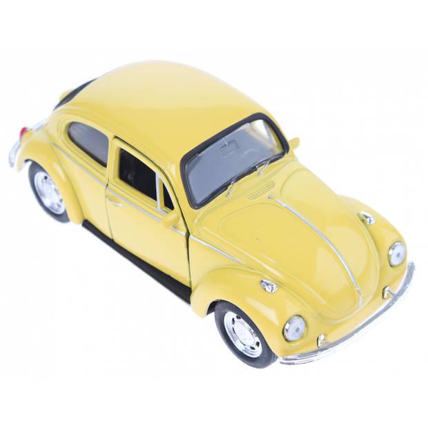 Welly schaalmodel Volkswagen Kever die-cast geel