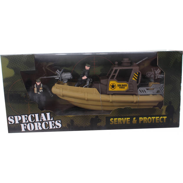 Johntoy speelset leger Army Forces boot/motor